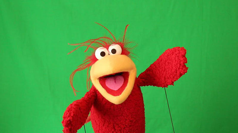 Red Bird Puppet