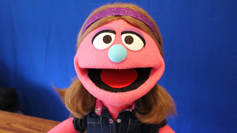 girl muppet style puppet