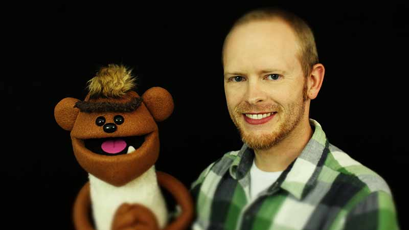 Chris Chappell Professional Puppeteer and one of his puppets