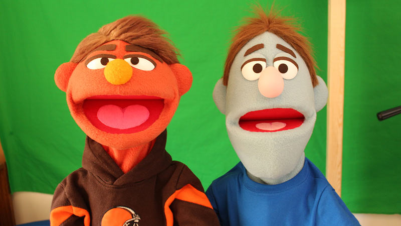 Avenue Q inspired puppets