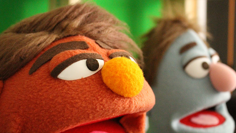 Avenue Q style puppets