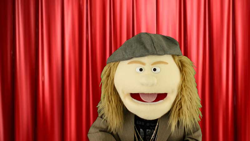Puppet version of the comedian Sam Kinison